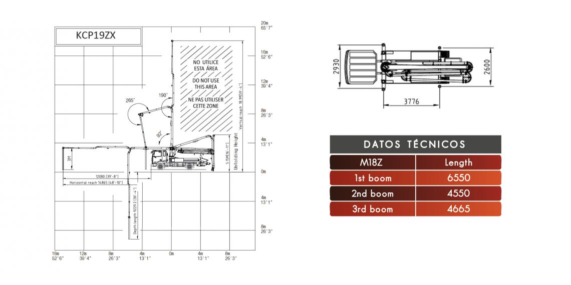 Bomba de hormigón DICOMM 19Z3100, Modelo: Azor 1627, material de construcción bombeo 19m